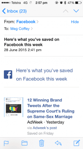 Facebook is reminding you what you saved