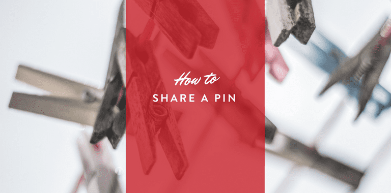 how to share a pin