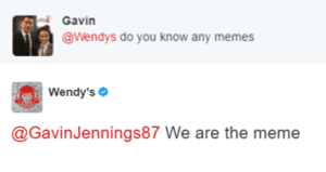 Wendy's Meme Tweet
