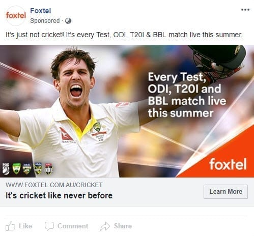 foxtel call to action