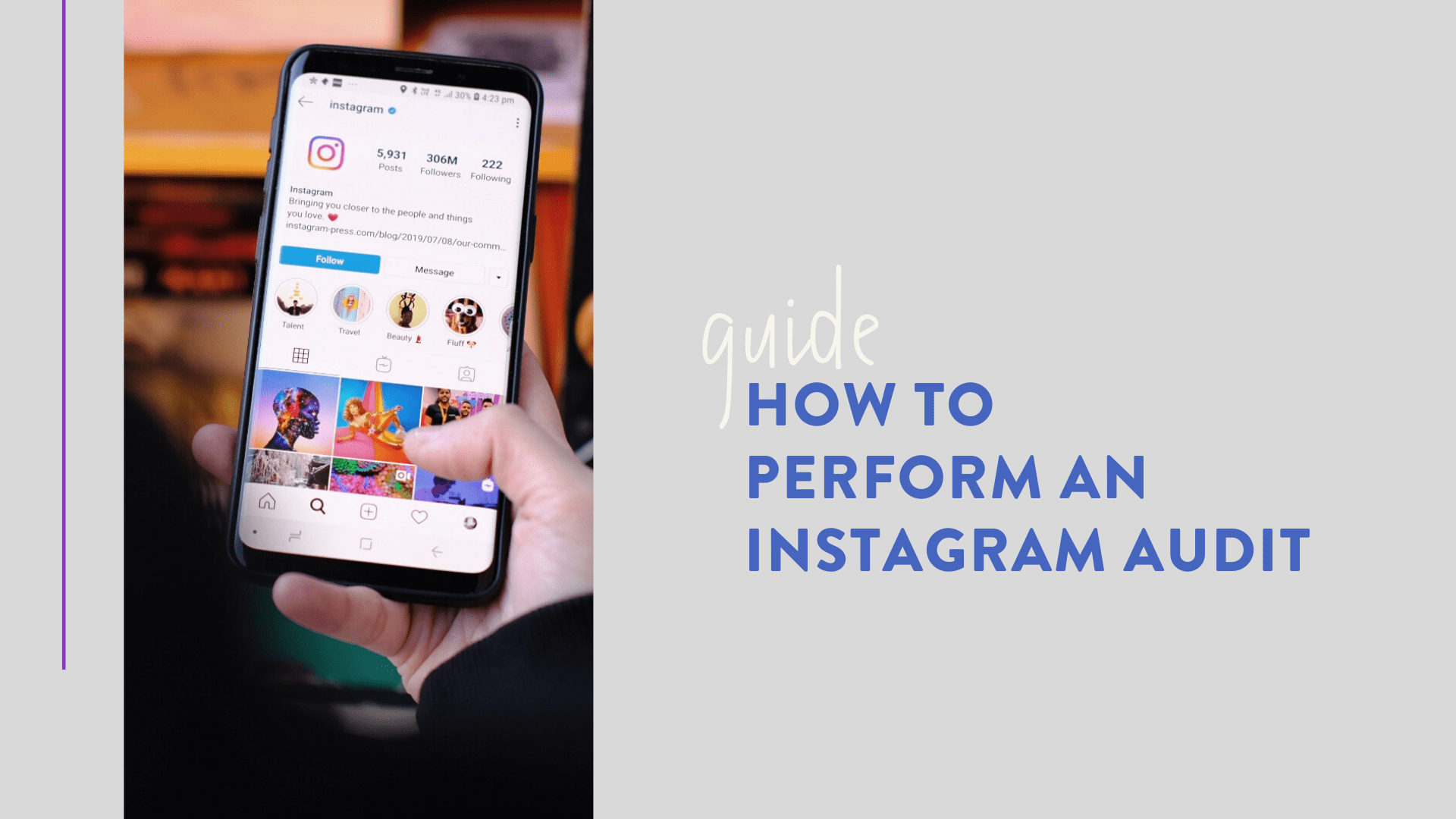 how to perform ig audit