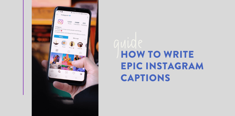 how to write epic captions
