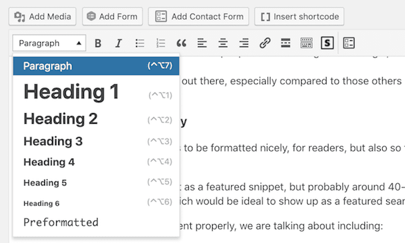 Formatting your content for featured snippets in WordPress