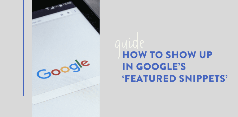 google featured snippets - 768x380