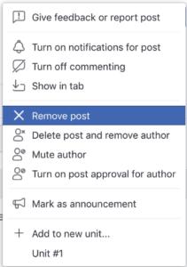 remove post