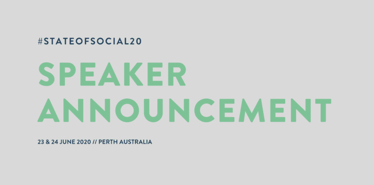 SPEAKER ANNOUNCEMENT