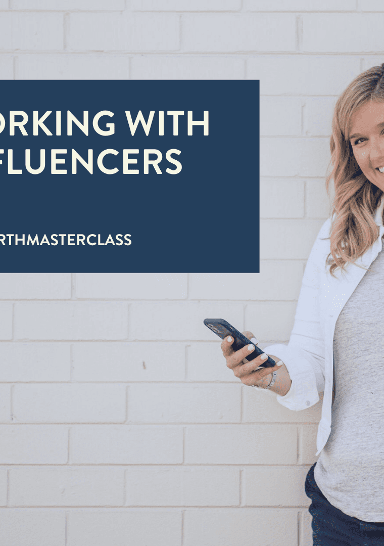 WORKING WITH INFLUENCER MARKETING