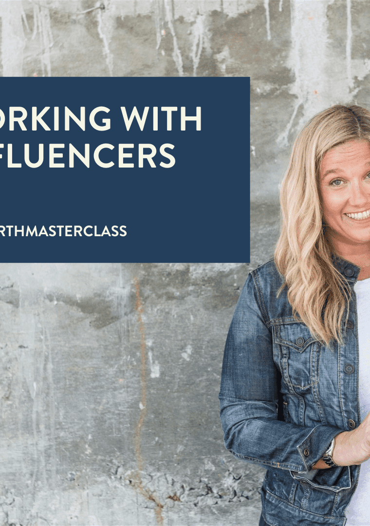 working with influencers