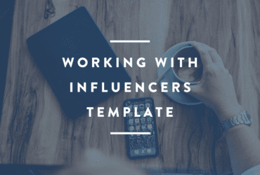 working with influencer marketing template